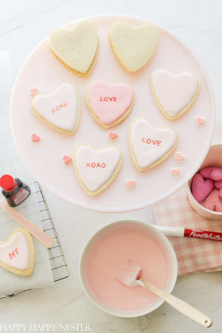 personalized Valentine's Day cookies