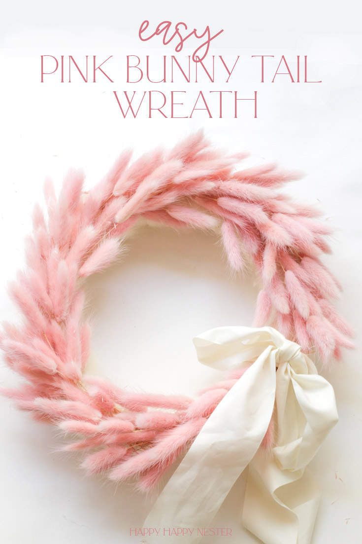Need some DIY Valentine's Day Decor Ideas? Here are some fun crafts, a wreath, pillow, and garlands. Make this adorable pink bunny tail wreath in 30 minutes or less. Check out this wreath tutorial over on Happy Happy Nester.