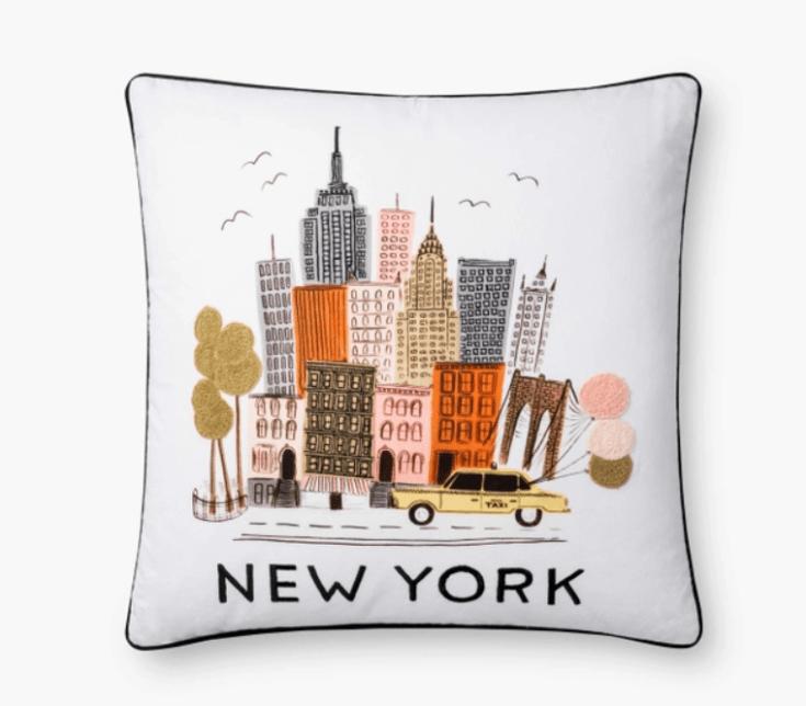 Cute New York pillow