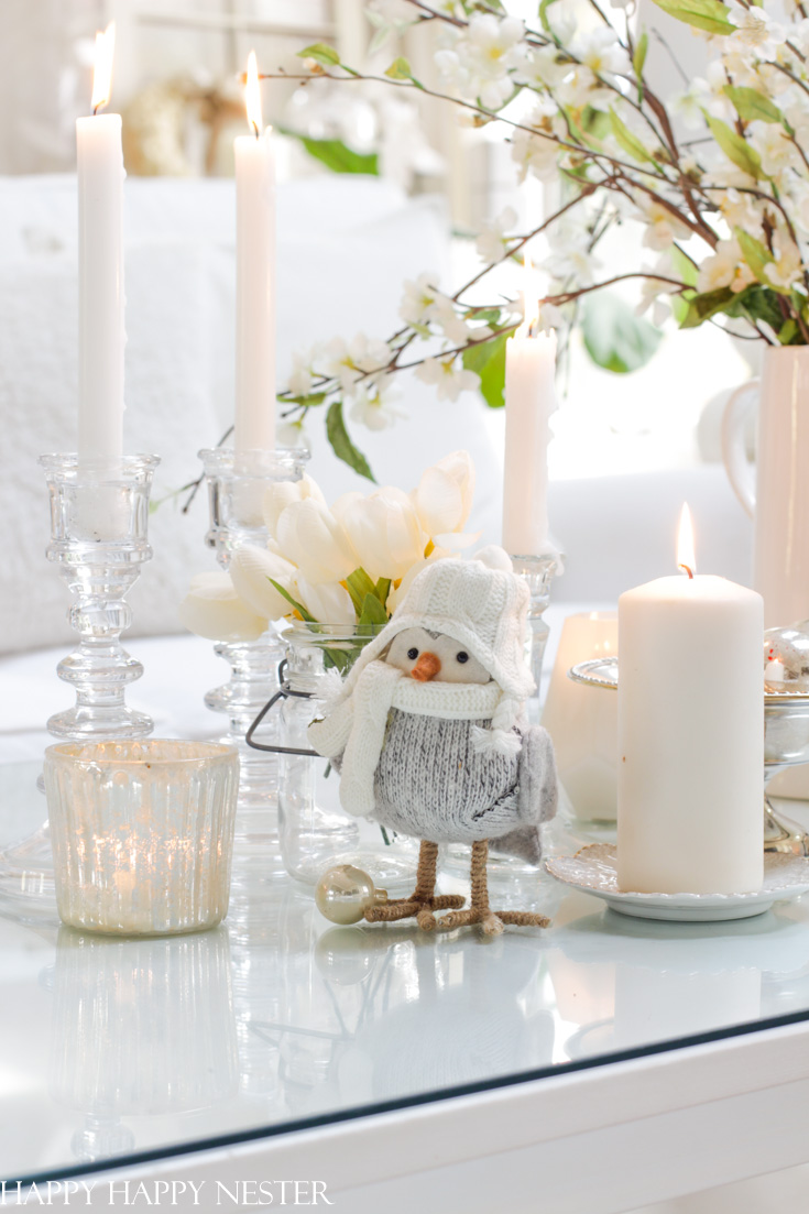 create winter vignettes throughout your home