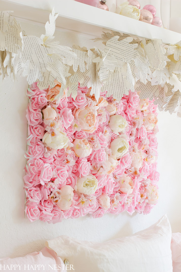 diy flower wall hanging for the bedroom