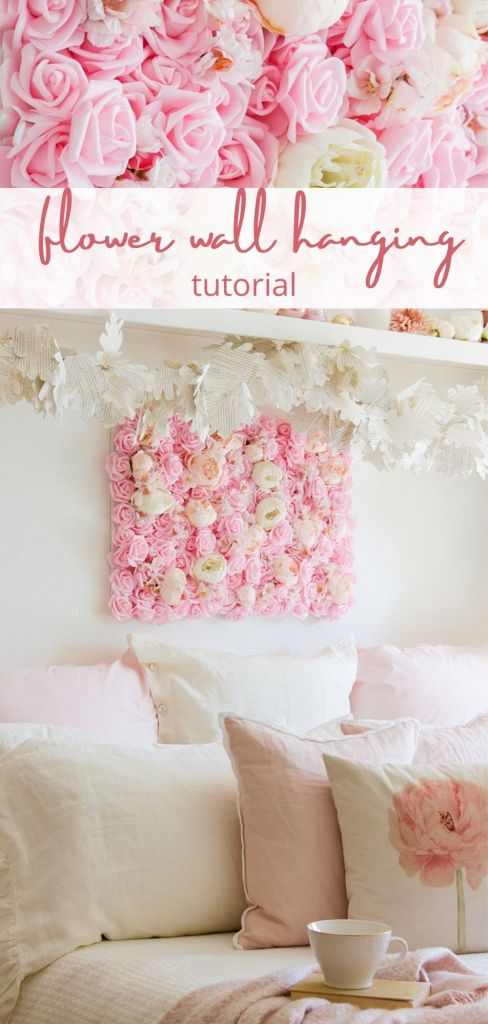 DIY flower wall hanging pin