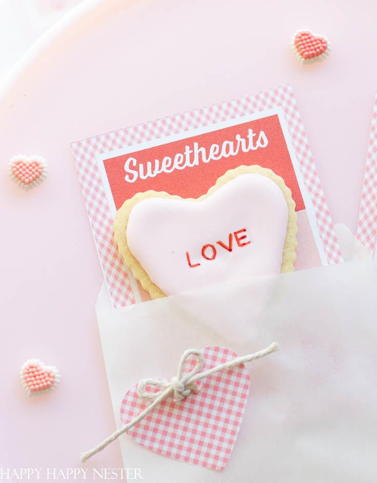 valentine's day cookie card