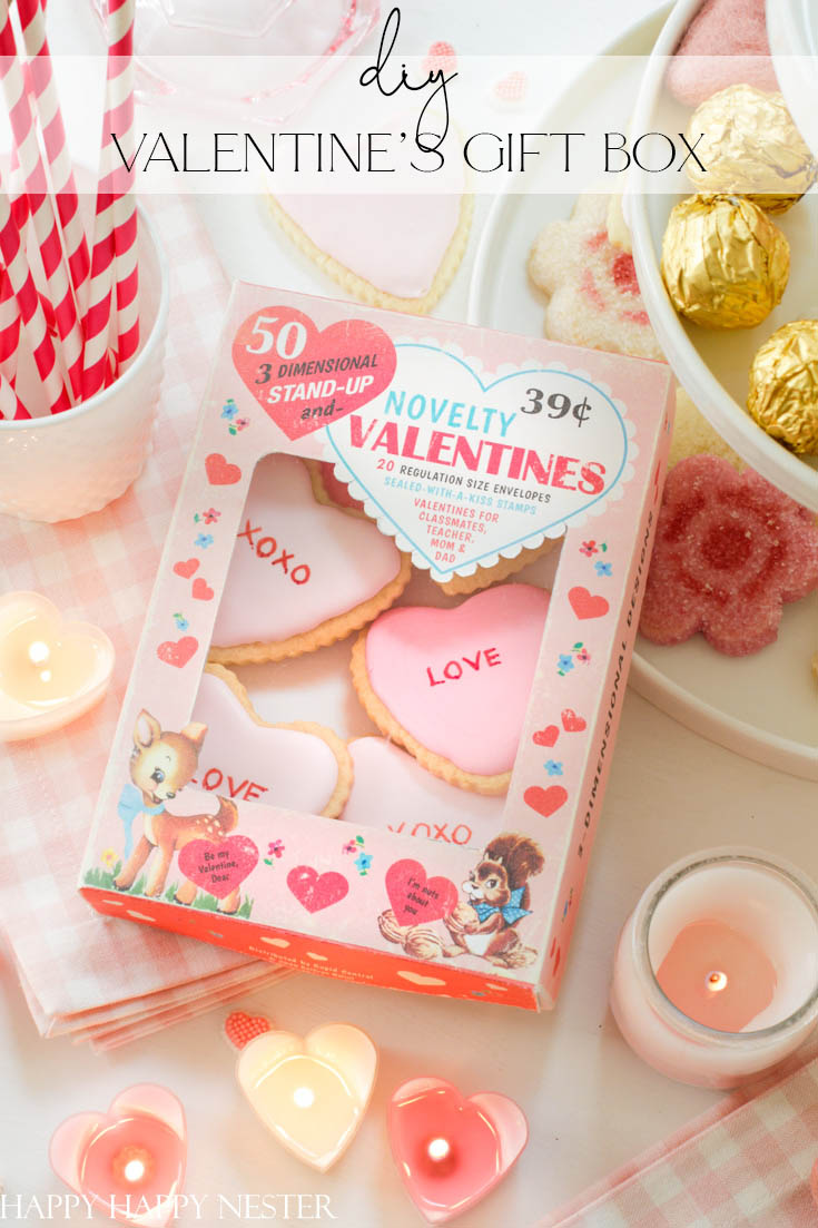 valentine's gift box easy diy pin