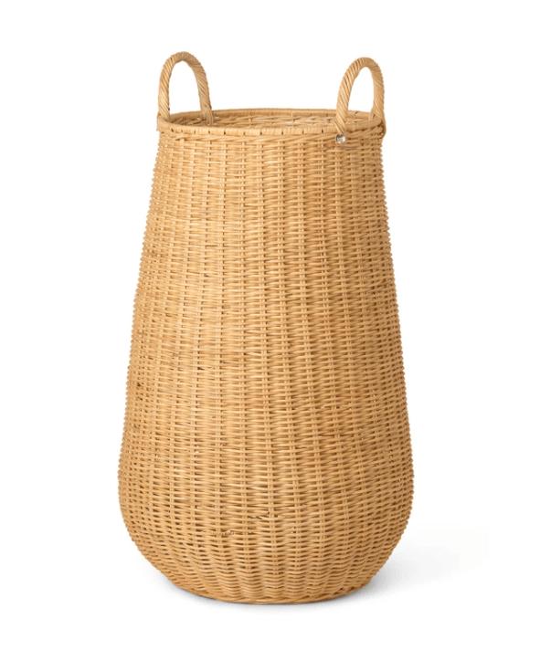 braided laundry basket