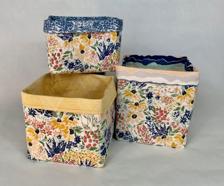 pretty floral baskets