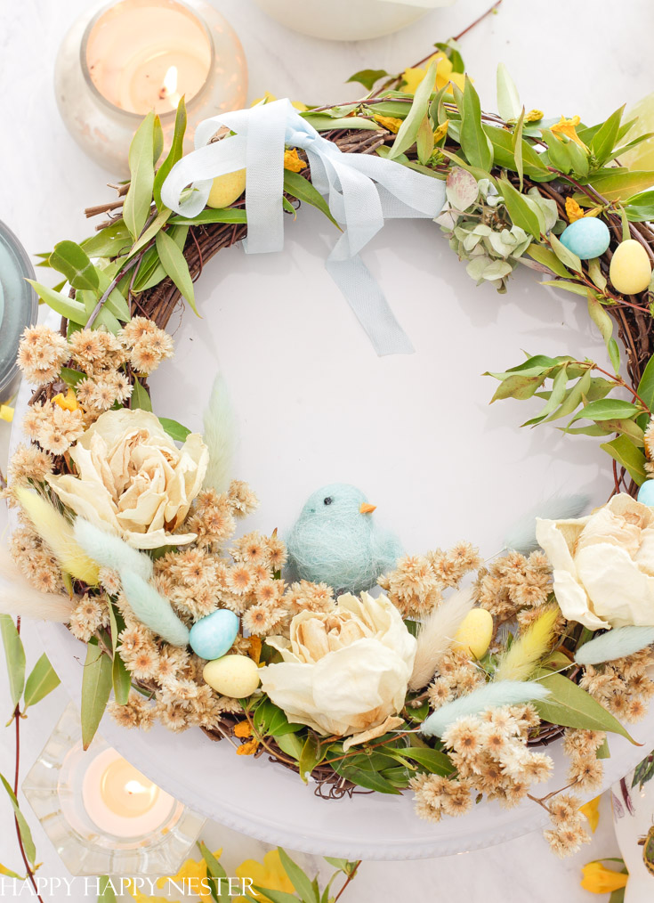 Learn how to make a dried flower wreath