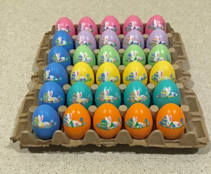 hand-painted decorative easter eggs