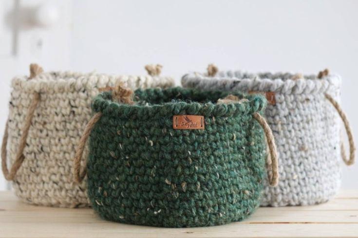 cute crochet basket
