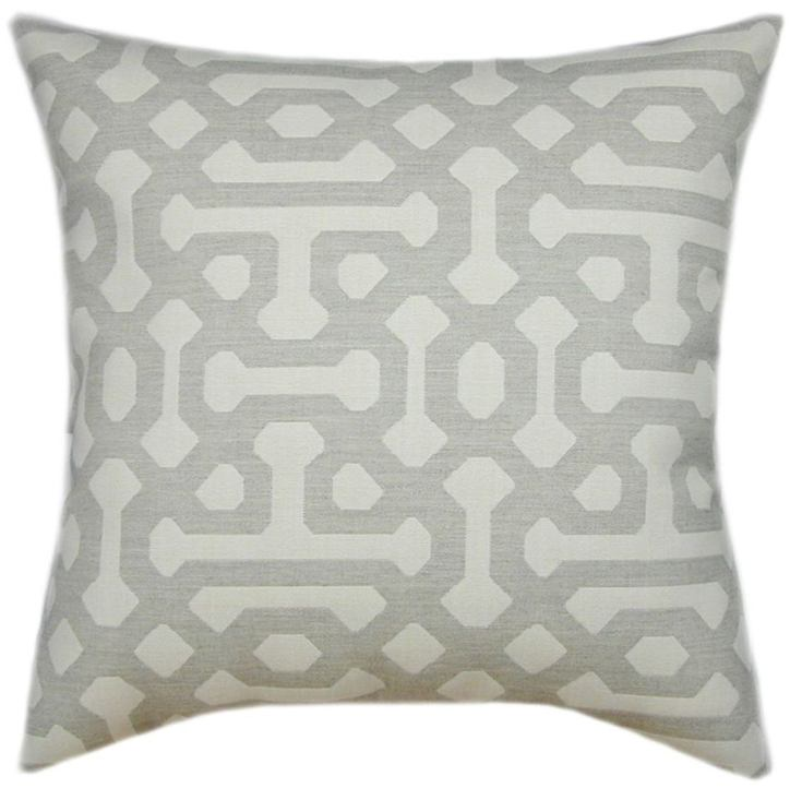 pewter geometric pillow