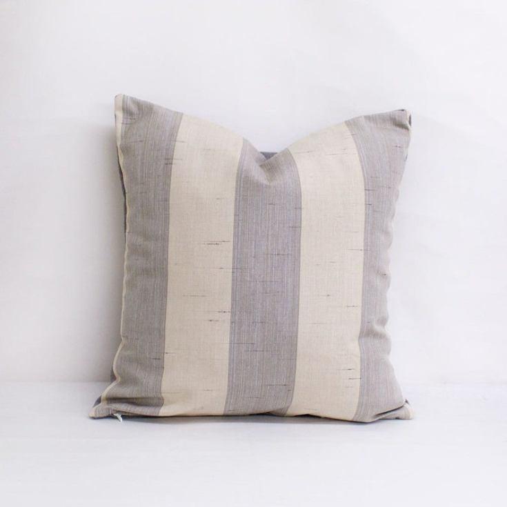 stripe summer accent pillow