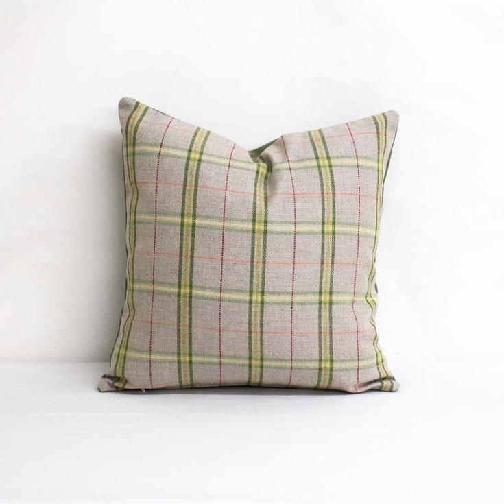 plaid subrella pillow