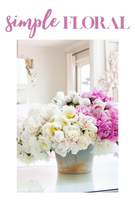 make a simple floral arrangement pin