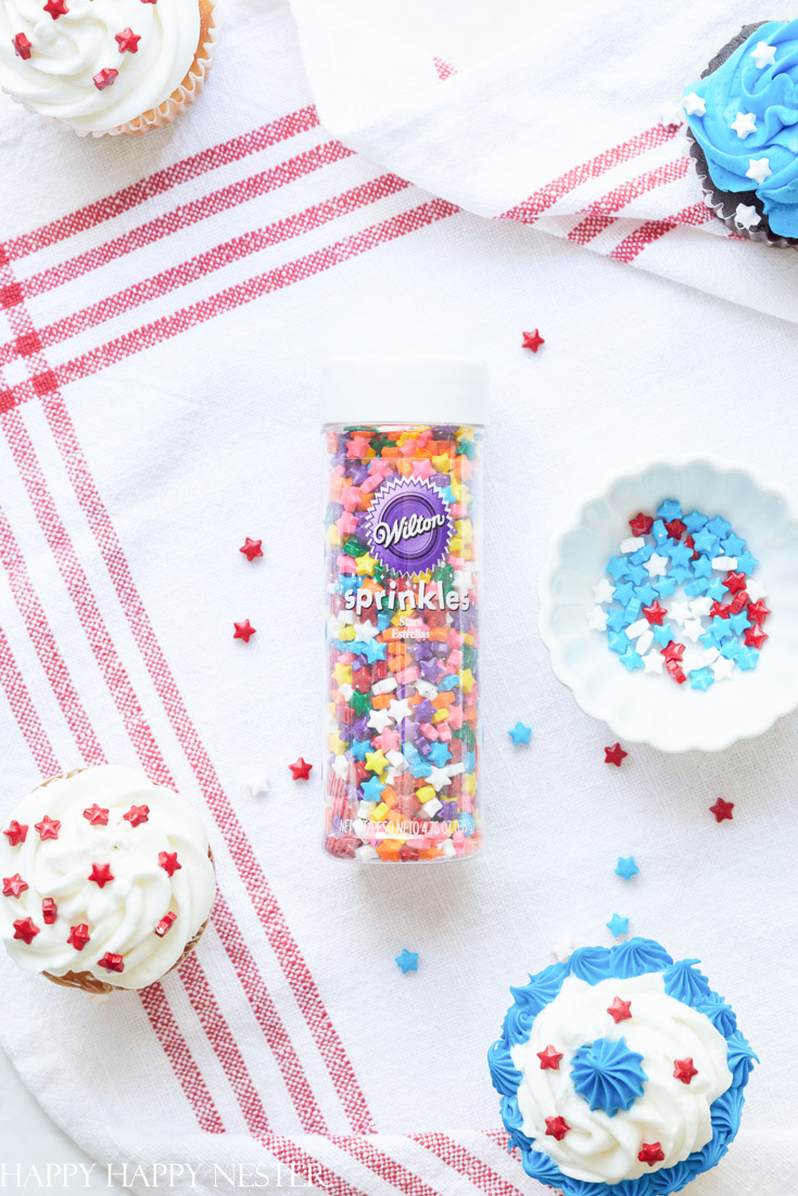 funfetti 4th of july cupcakes