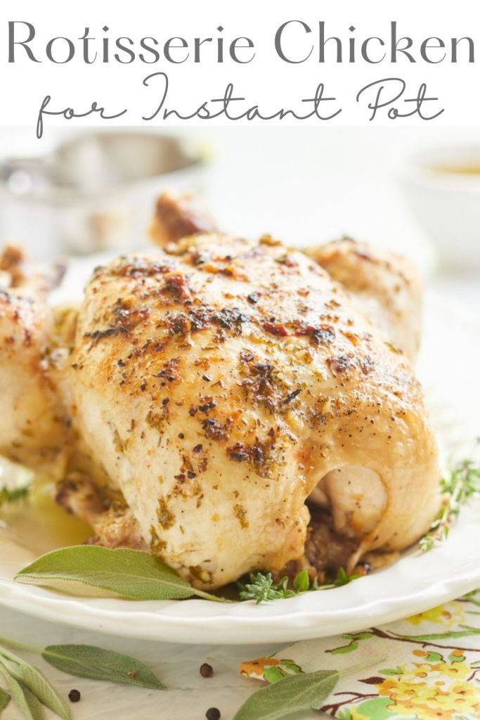 rotisserie chicken in instant pot