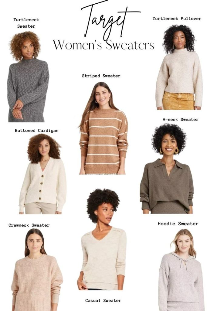 target women's sweaters