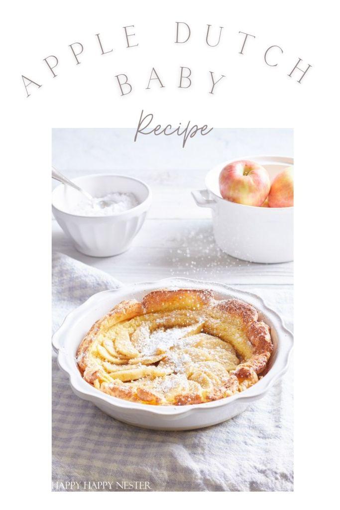 Apple Dutch baby recipe pin