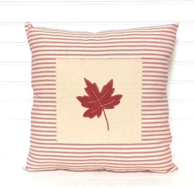 fall leaf pillow