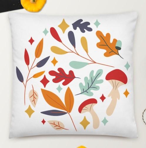 fall throw pillows leaf