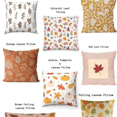 leaf pillows fall