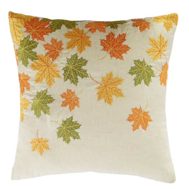 fall leaf shaped pillow