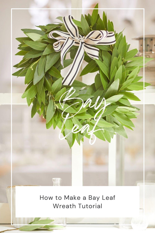 how to make a bay leaf wreath pin
