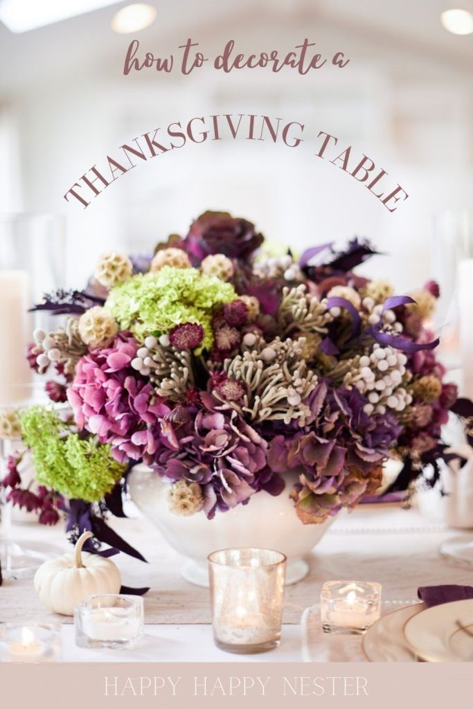 how to decorate a dining room table for thanksgiving pin
