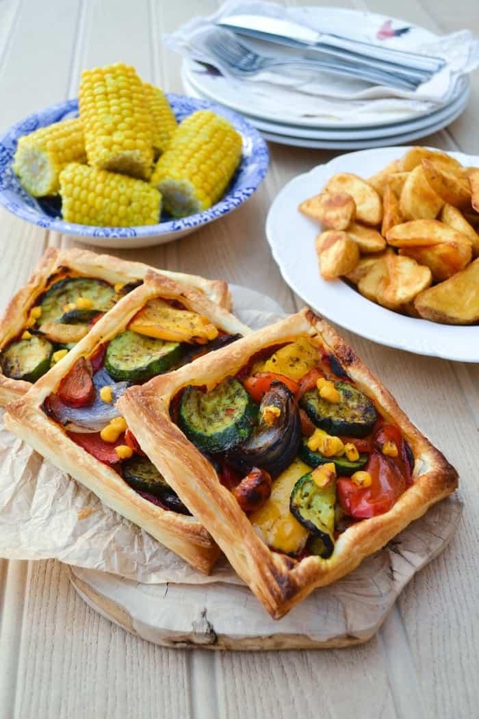 Easy Mediterranean Tart for a quick vegan lunch