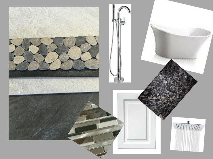 CT Master Bath design board