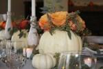 """Fall """"White Pumpkin"""" Tablescape"""