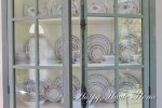 Styling a Glass Cabinet with Vintage Dishes