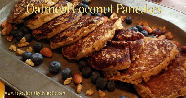 Oatmeal Coconut Pancakes
