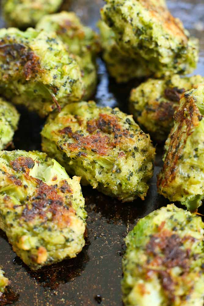 Broccoli Bites on a sheet pan