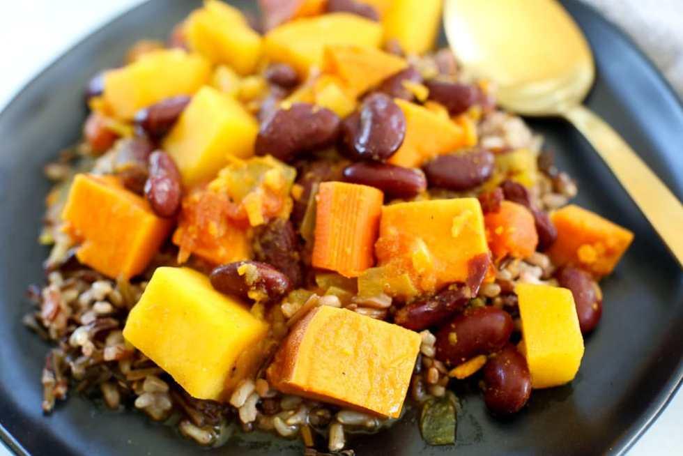 Root Vegetable and Red Bean Stew Recipe Vegan recipe easy weeknight dinner