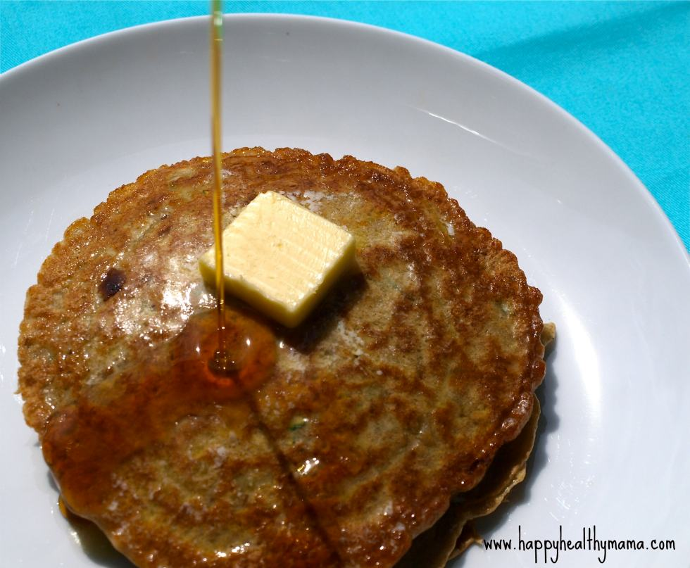 veggie pancakes made with zucchini and whatever other vegetables you want!