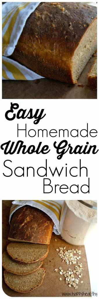 Homemade sandwich bread is easier than you think! This is a great whole grain recipe!