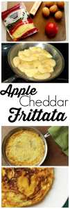 This is one of the BEST flavor combinations! This Apple Cheddar Frittata is a great, gluten-free, easy recipe.