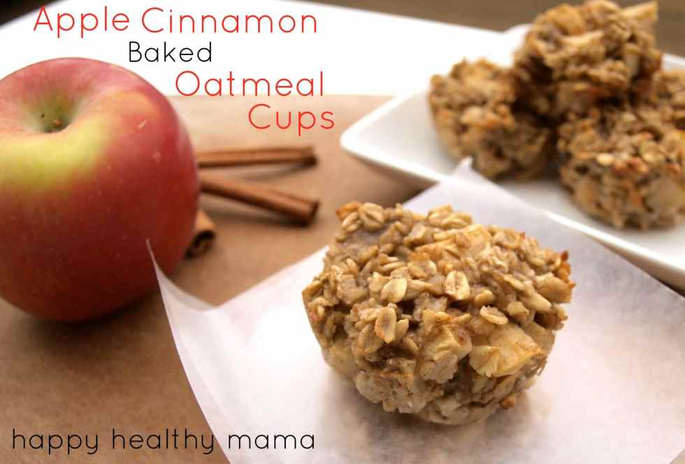 cinnamon apple oatmeal cups from happy healthy mama