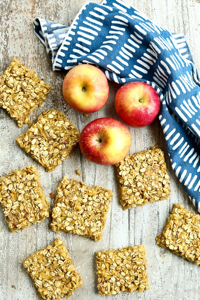 Apple Peanut Butter Snack Bars easy healthy recipe