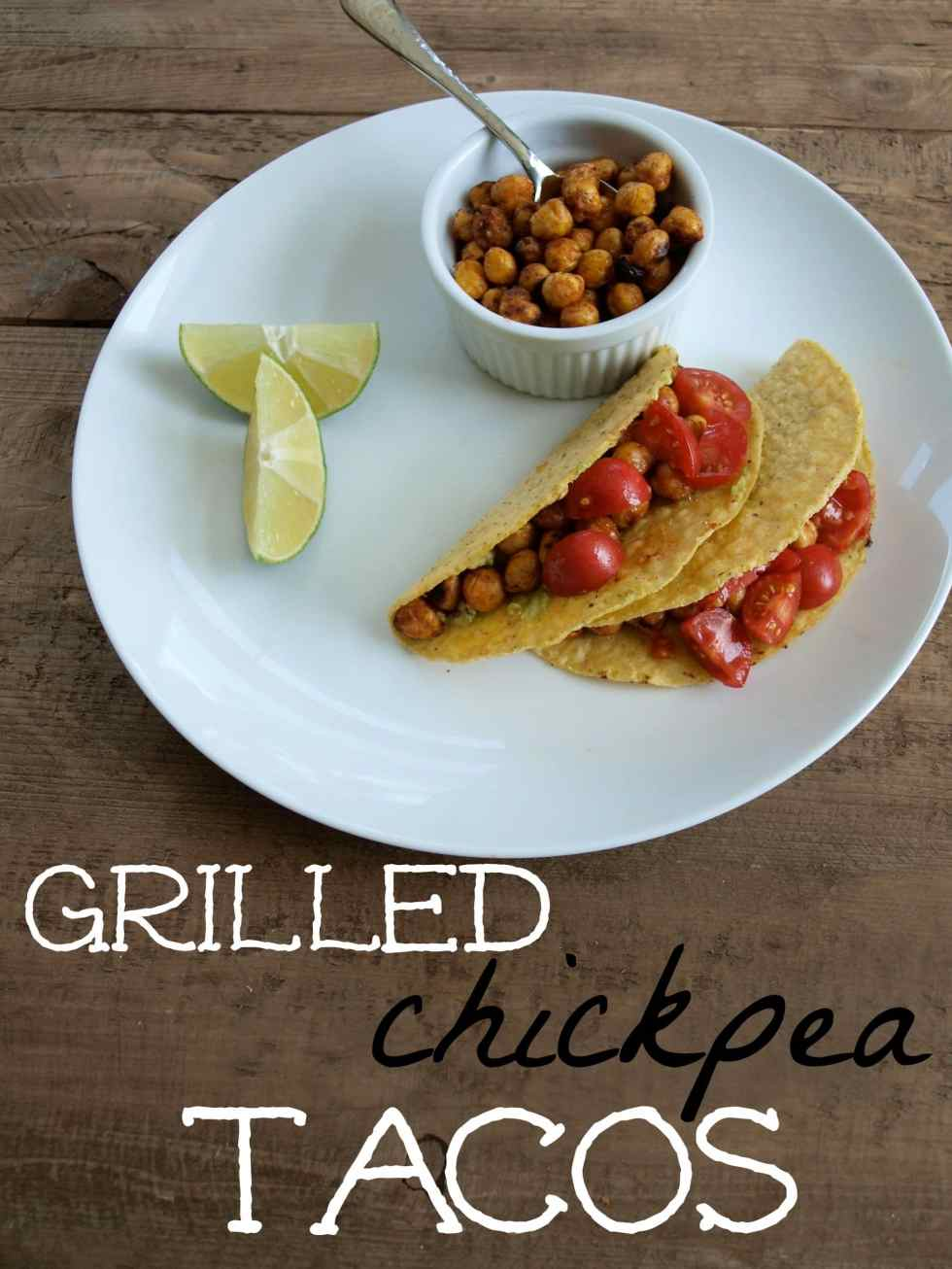 Grilled chickpea tacos! Who says the grill is for meat?! #vegan #meatlessmonday