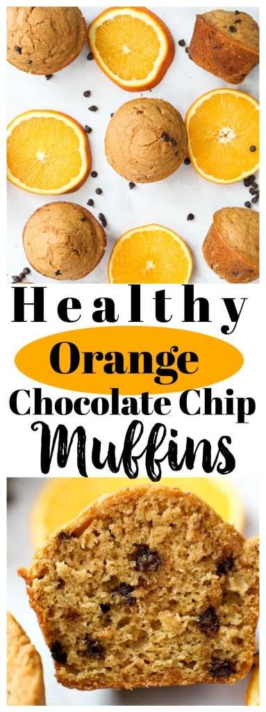 Orange Chocolate Chip Muffin recipe #healthy #muffin #wholegrain #chocolatechips #forkids