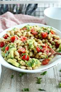 White Bean Salad Recipe #easy #healthy #potluck #salad #recipes #healthyrecipes #beans #vegan #vegetarian #glutenfree #dairyfree #quick #picnic