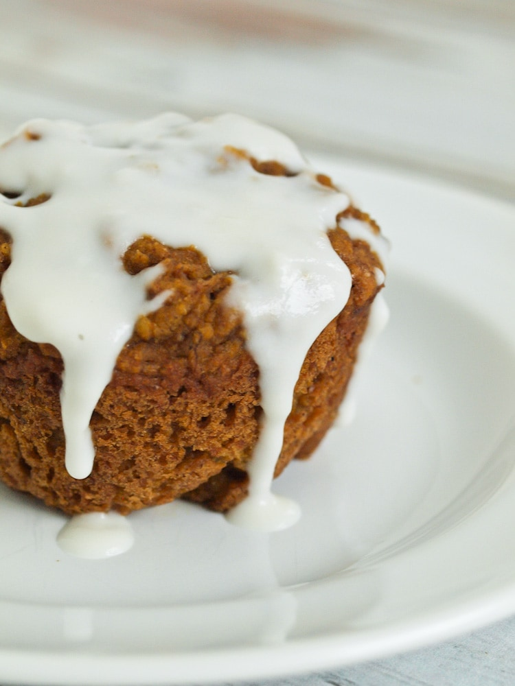 Super Healthy Banana Pumpkin Muffins with Coconut Butter glaze. Heaven!