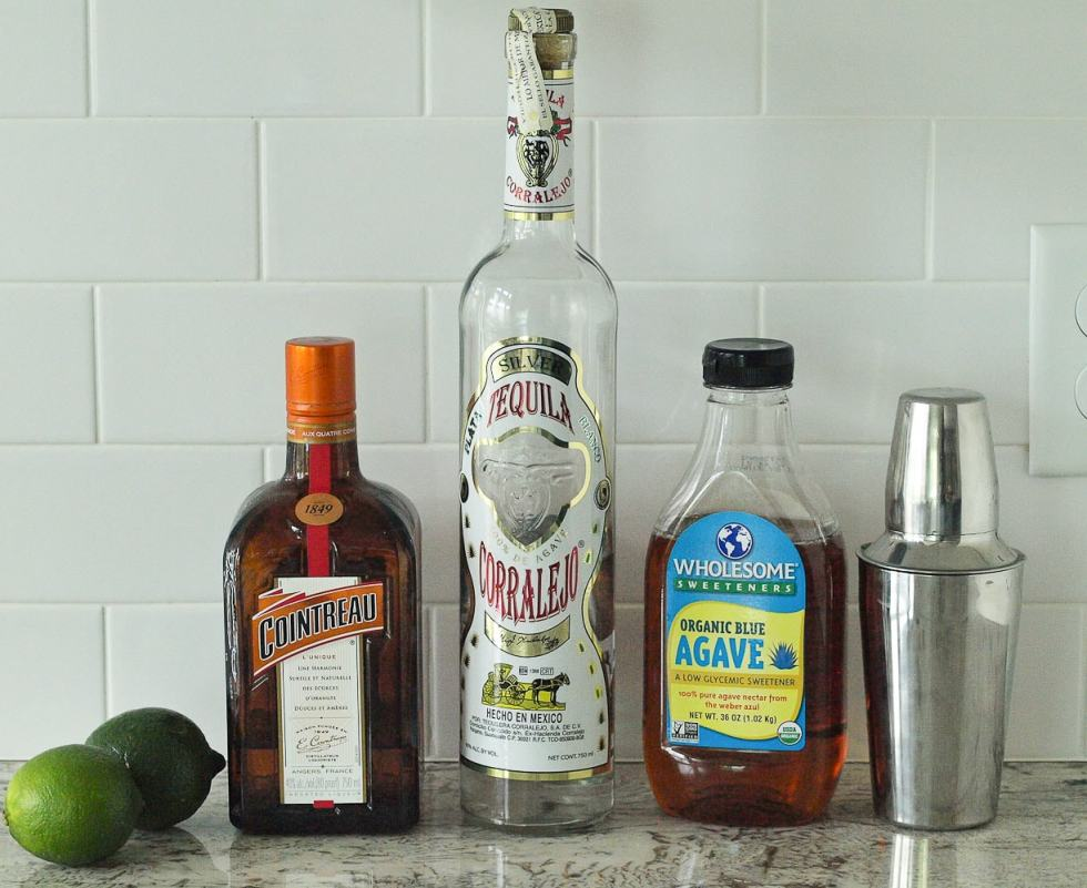 Ingredients for the best margarita recipe ever.