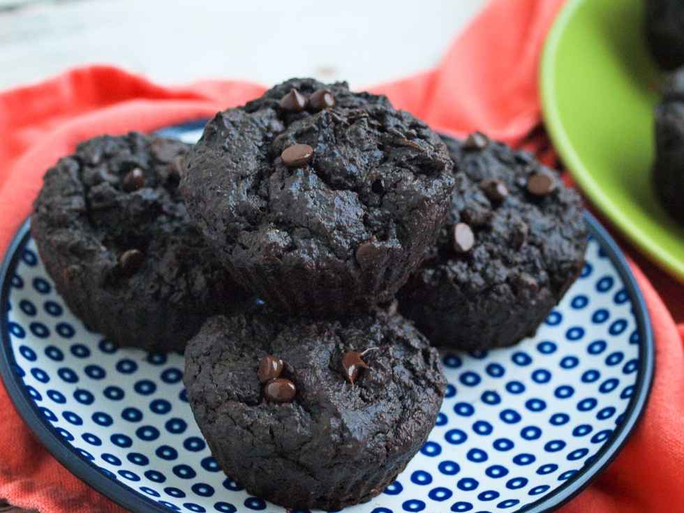 Double-chocolate-peanut-butter-muffins-with-vegetables
