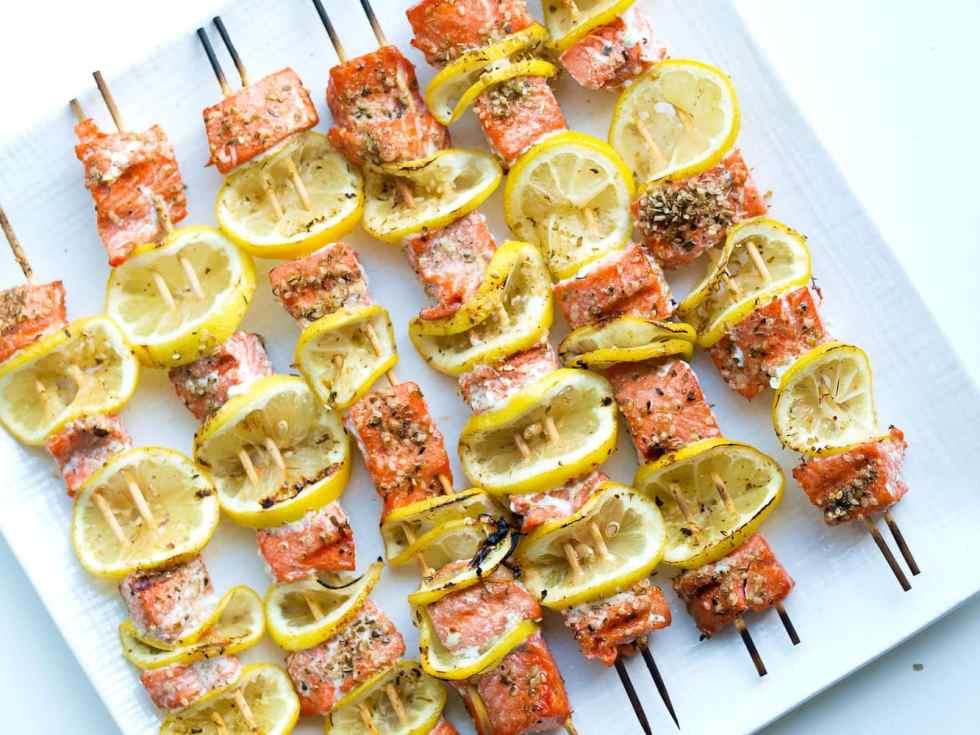 Easy Salmon Kabobs Recipe.