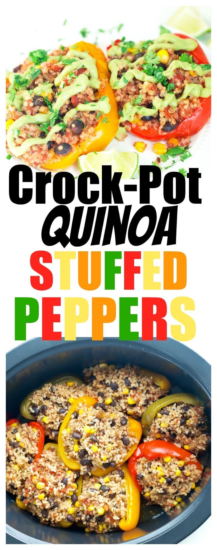 vegan | crockpot recipe | dinner | easy | healthy | quinoa | vegetarian