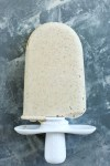 Close up picture of High Protein Low Carb Almond Vanilla Popsicles