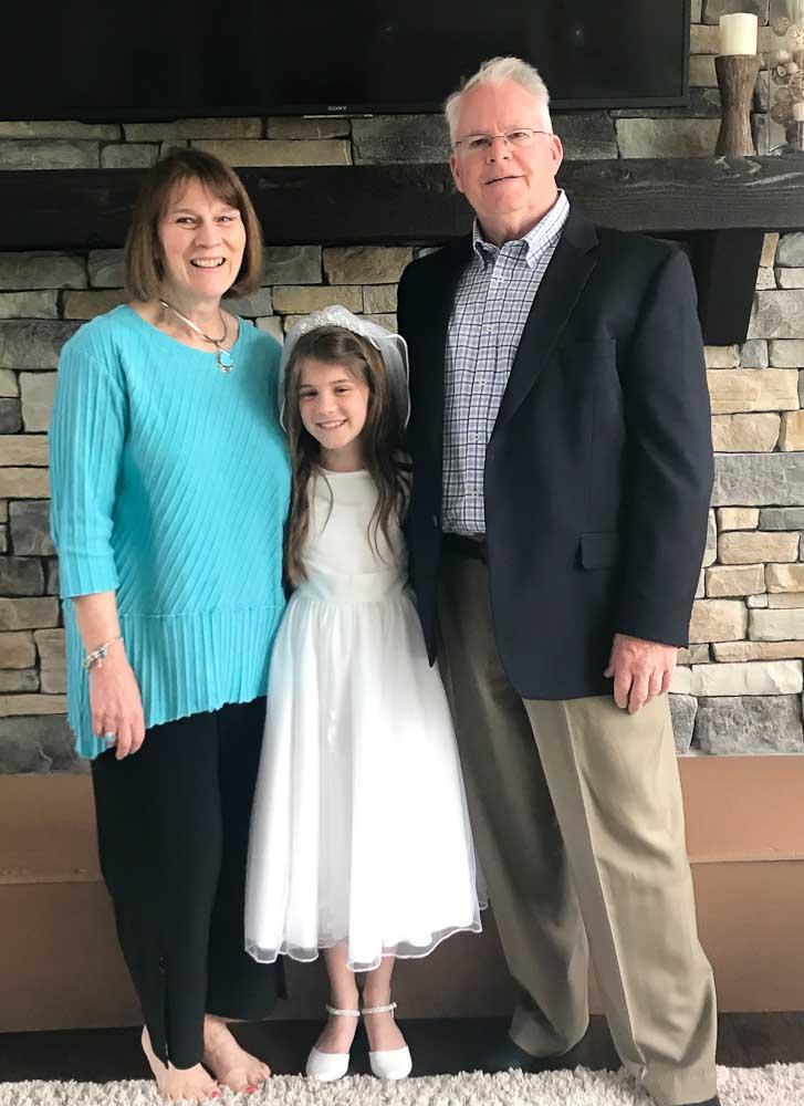 with Nana and Poppy