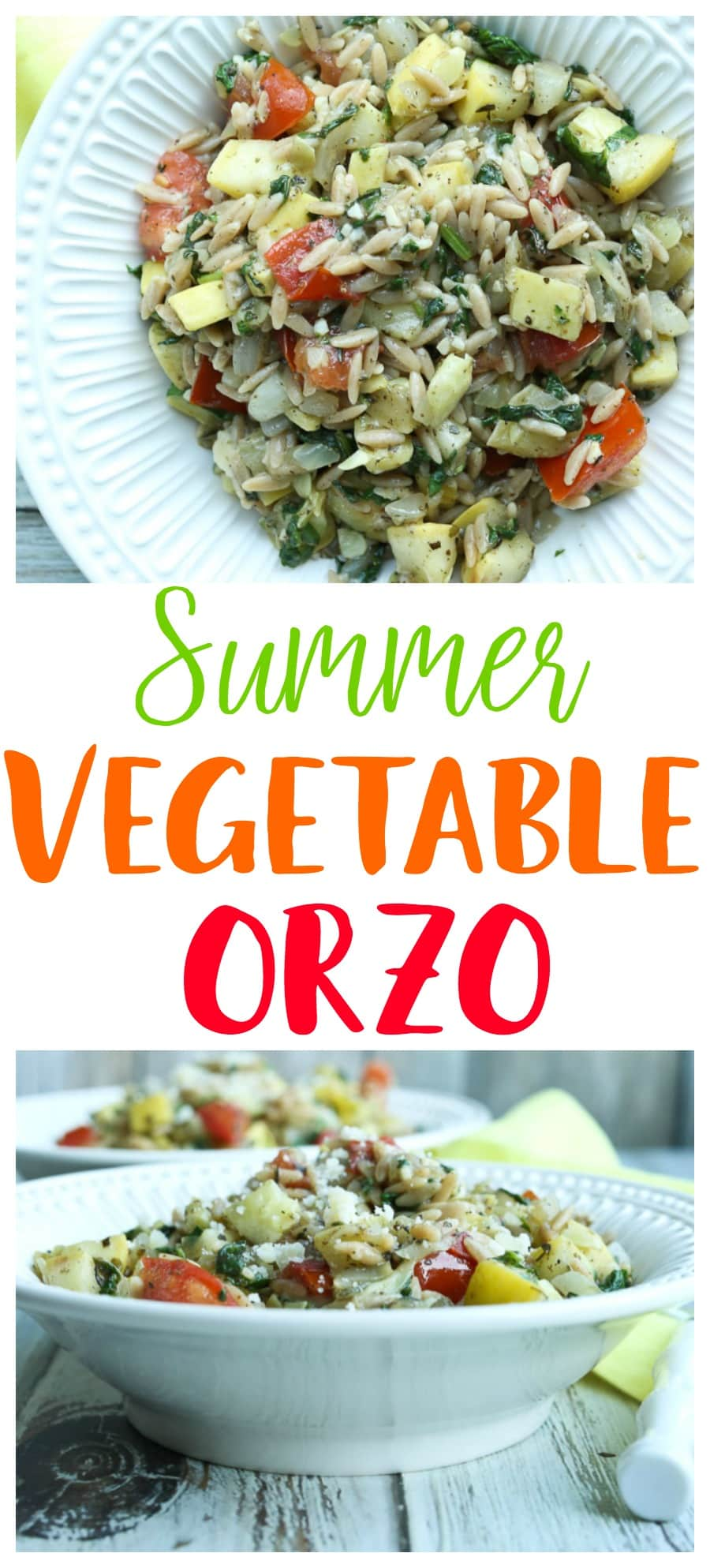 You are going to LOVE this Summer Vegetable Orzo Recipe | Healthy Dinner | Easy Dinner | Weeknight dinner